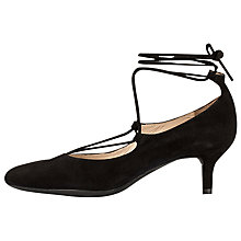 Buy Unisa Jumen Lace Up Court Shoes, Black Online at johnlewis.com
