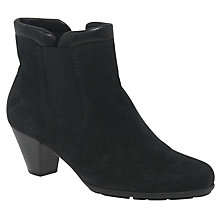 Buy Gabor Paige Block Heeled Ankle Boots, Black Online at johnlewis.com