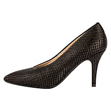 Buy Unisa Telfon Pointed Toe Stiletto Court Shoes, Black Online at johnlewis.com