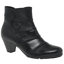 Buy Gabor Spiritual Button Ankle Boots, Black Online at johnlewis.com