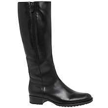 Buy Gabor Louisa M Long Boots, Black Leather Online at johnlewis.com