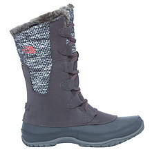 Buy The North Face Nuptse Purna Women's Insulated Boots, Smoked Pearl Grey/Calypso Coral Online at johnlewis.com