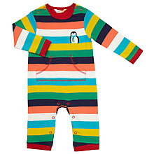 Buy John Lewis Baby Multi Stripe Romper Playsuit, Multi Online at johnlewis.com