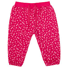 Buy John Lewis Baby Floral Print Joggers, Red Online at johnlewis.com