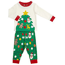 Buy John Lewis Baby Christmas Decoration Pyjama Set, Multi Online at johnlewis.com