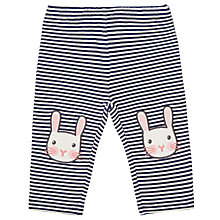 Buy John Lewis Baby Rabbit Stripe Leggings, Navy Online at johnlewis.com