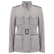 Buy Mint Velvet Belted Military Jacket, Grey Online at johnlewis.com