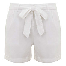 Buy Mint Velvet Belted Shorts, Ivory Online at johnlewis.com