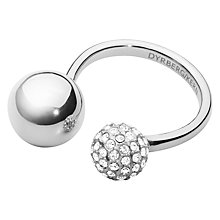 Buy Dyrberg/Kern Globe Crystal Ring, Silver Online at johnlewis.com