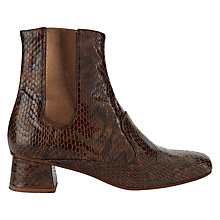Buy Finery Elmworth Block Heeled Ankle Boots, Brown Online at johnlewis.com
