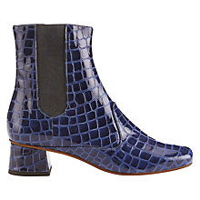 Buy Finery Elmworth Block Heeled Ankle Boots, Navy Online at johnlewis.com