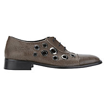 Buy Finery Eckett Eyelet Brogues, Mushroom Online at johnlewis.com