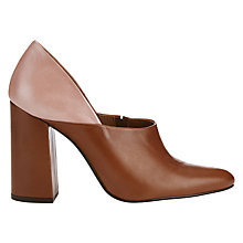 Buy Finery Hannah Block Heeled Mule Court Shoes, Tan Online at johnlewis.com