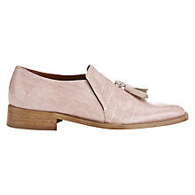 Buy Finery Embrook Italian Tassel Loafers, Pink Online at johnlewis.com