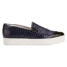 Buy Finery Elwood Luxury Slip On Trainers, Navy Online at johnlewis.com