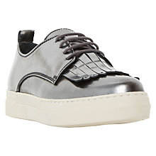 Buy Dune Black Eddy Flatform Fringed Trainers Online at johnlewis.com