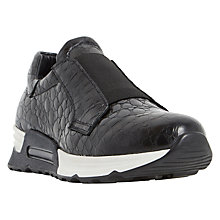 Buy Dune Black Elva Slip On Trainers Online at johnlewis.com