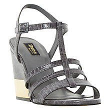 Buy Dune Black Jettison Wedge Heeled Sandals, Grey Online at johnlewis.com