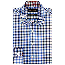 Buy Jaeger Bright Gingham Modern Shirt, Blue Online at johnlewis.com