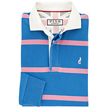 Buy Thomas Pink Dorney Stripe Rugby Shirt, Blue/Pink Online at johnlewis.com
