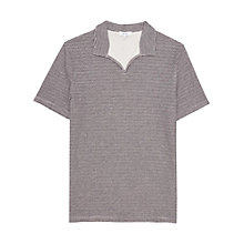 Buy Reiss Bocca Open Neck Stripe Polo Shirt, Navy Online at johnlewis.com