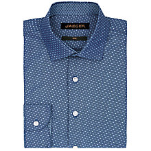 Buy Jaeger Chambray Spot Slim Fit Shirt, Blue Online at johnlewis.com