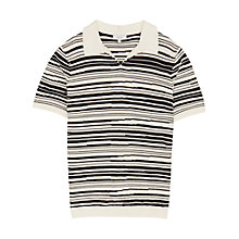Buy Reiss Metro Blurred Stripe Polo Shirt, Off White/Navy Online at johnlewis.com