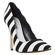 Buy Dune Bellisi Pointed Toe Court Shoes, Black/White Online at johnlewis.com