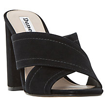 Buy Dune Maxi Block Heeled Cross Strap Sandals Online at johnlewis.com