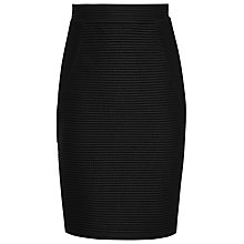 Buy Reiss Di Textured Jersey Skirt, Black Online at johnlewis.com