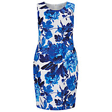 Buy Windsmoor Printed Linen Dress, Bright Blue Online at johnlewis.com