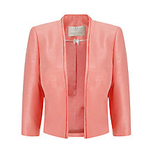 Buy Jacques Vert Petite Edge to Edge Jacket, Coral Online at johnlewis.com