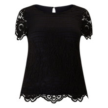 Buy Windsmoor Lace Top, Black Oyster Online at johnlewis.com