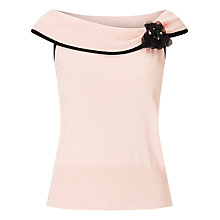 Buy Jacques Vert Knit Bardot Top, Light Pink Online at johnlewis.com
