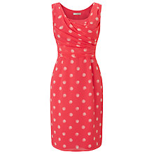 Buy Jacques Vert Petite Shadow Spot Dress, Orange Online at johnlewis.com
