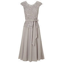 Buy Jacques Vert Cornelli Fit And Flare Dress, Light Grey Online at johnlewis.com