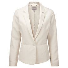 Buy Pure Collection Kristen Silk Fitted Jacket, Ivory Online at johnlewis.com