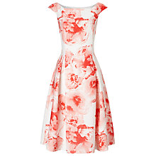 Buy Jacques Vert Printed Textured Prom Dress, Light Pink Online at johnlewis.com