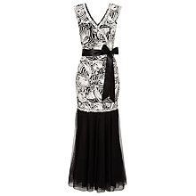 Buy Jacques Vert Cornelli Bodice Maxi Dress, Black Online at johnlewis.com