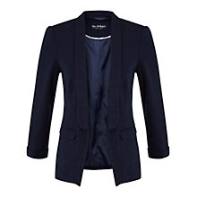 Buy Miss Selfridge Textured Ponte Jacket, Navy Online at johnlewis.com