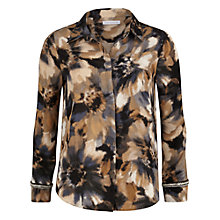 Buy Gina Bacconi Watercolour Flower Print Shirt, Multi Online at johnlewis.com