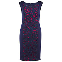 Buy Gina Bacconi Lace And Jersey Dress, Navy Online at johnlewis.com