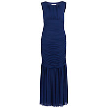 Buy Gina Bacconi Long Ruched Dress, Autumn Navy Online at johnlewis.com