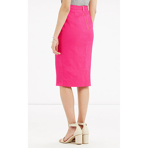 buy oasis textured wrap pencil skirt bright pink lewis