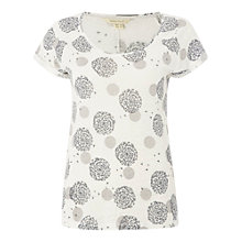 Buy White Stuff Charming Linen Jersey T-shirt, Ivory Cream Online at johnlewis.com
