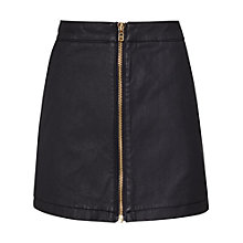 Buy Reiss Ruth Coated Denim Mini Skirt, Night Navy Online at johnlewis.com