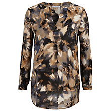 Buy Gina Bacconi Watercolour Flower Print Kaftan Top, Multi Online at johnlewis.com
