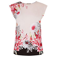 Buy Oasis Evie Placement T-Shirt, Multi Online at johnlewis.com