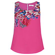 Buy Oasis Tropical Placement Vest, Multi/Pink Online at johnlewis.com