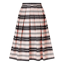Buy Jacques Vert Stripe Prom Skirt, Multi/Pink Online at johnlewis.com
